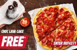 FREE Lava Cake with any Large Pizza Purchase
